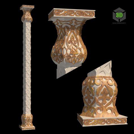 The column in Arabic style 176 (3ddanlod.ir)