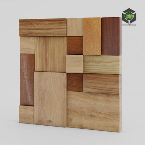 Wood wall panels 07 198 (3ddanlod.ir)