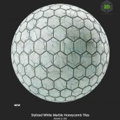 stylized_white_marble_honeycomb_tiles (3ddanlod.ir)