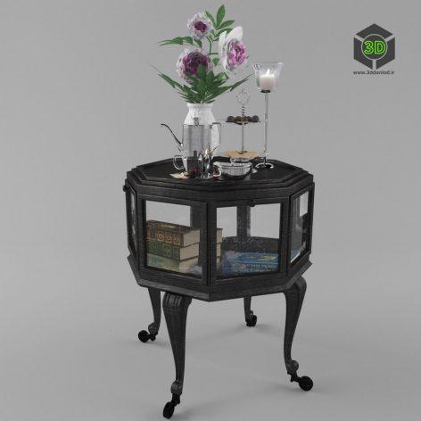 Антикварный стол-витрина 210 (3ddanlod.ir)