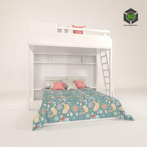 دانلود آبجکت تخت کودک 125