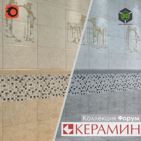 Плитка Керамин коллекция Форум 123 (3ddanlod.ir)
