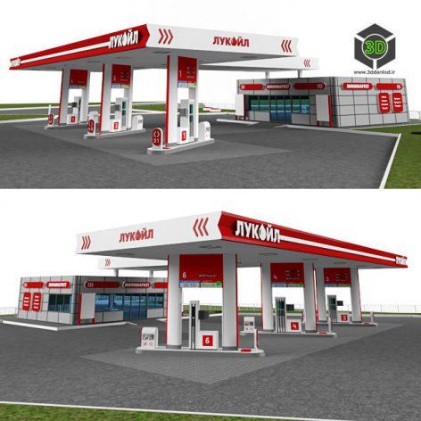бензоколонка Petrol station 072 (3ddanlod.ir)