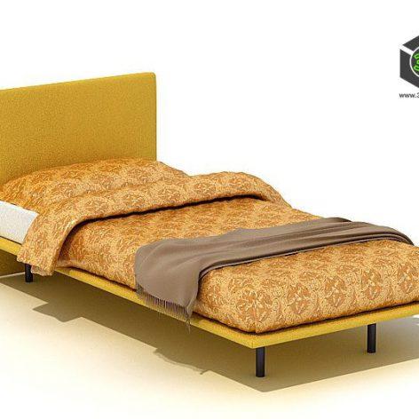دانلود آبجکت تخت خواب مدرن 801