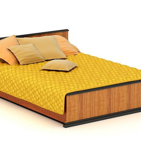 دانلود آبجکت تخت خواب مدرن 805