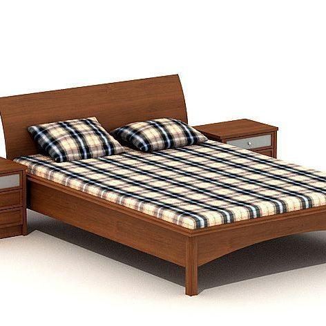 دانلود آبجکت تخت خواب مدرن 806