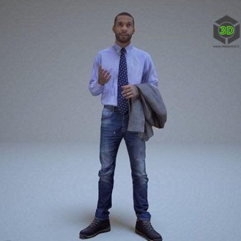 Casual Man Posed #2 3D Scan Model (3ddanlod.ir)