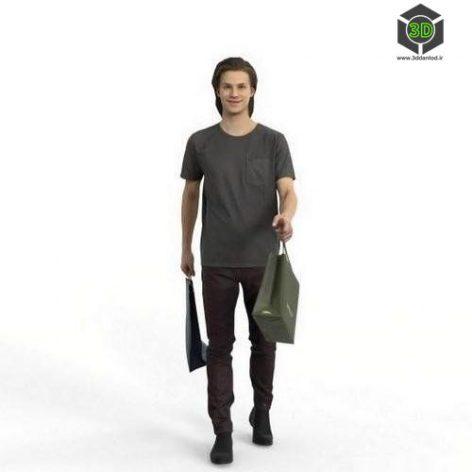 Casual Man Ready-Posed 3D Human Model (3ddanlod.ir)