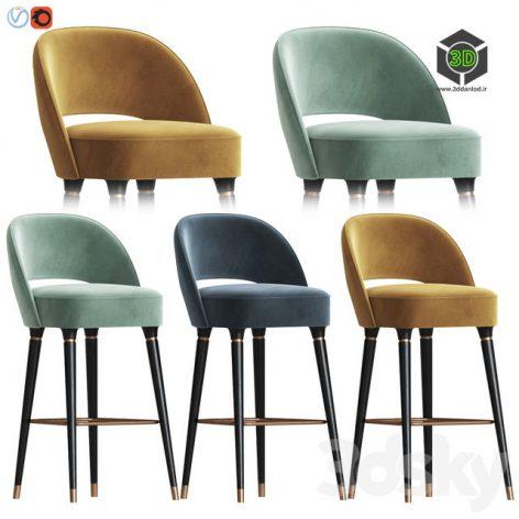 Collins Bar Chair Essential Home(3ddanlod.ir) 078