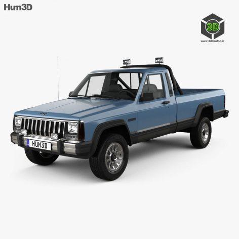 HUM3D Jeep Comanche MJ 1984 3D Model(3ddanlod.ir)