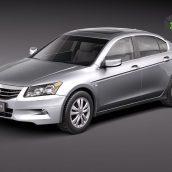 Honda Accord USA sedan 2011 3D Model(3ddanlod.ir)
