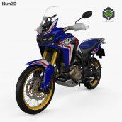 Honda CRF 1000L Africa Twin ABS 2019 3D Model (2)(3ddanlod.ir)