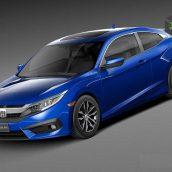 Honda Civic Coupe 2016 3d Model(3ddanlod.ir)