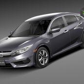 Honda Civic Sedan LX 2017 3D Model(3ddanlod.ir)