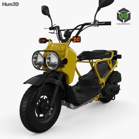 Honda NPS50 Zoomer (Ruckus) 2005 3D Model(3ddanlod.ir)