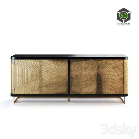 Hooker Furniture Melange Kendrix Credenza(3ddanlod.ir) 1067