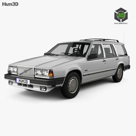 Hum 3D Volvo 745 kombi US 1985 car(3ddanlod.ir)