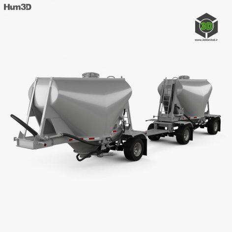 Hum3D - Beall 550 Dry Bulk Double Trailer 2016(3ddanlod.ir)