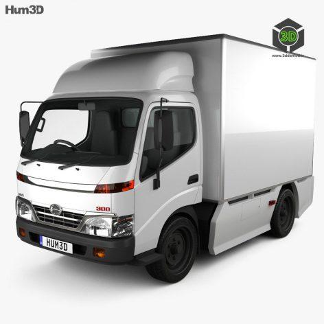Hum3D - Hino 300 Standard Cab Box 2010(3ddanlod.ir)