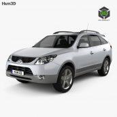 Hyundai ix55 Veracruz 2011 3D Model(3ddanlod.ir)