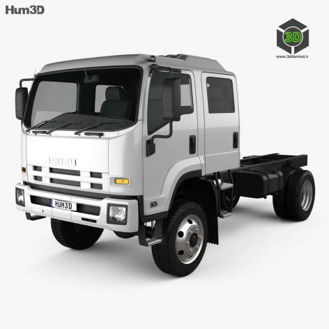 Isuzu FTS 800 Crew Cab Chassis Truck 2014 3D Model (2)(3ddanlod.ir)