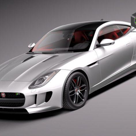 Jaguar F-Type R Coupe 2015 3D Model (2)(3ddanlod.ir)