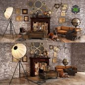 Loft Decorative Set(3ddanlod.ir) 1633