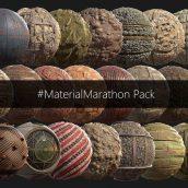 Material Marathon - 100 PBR Texture Sets(3ddanlod.ir)