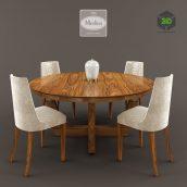 Medea Table Chairs(3ddanlod.ir) 1645