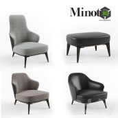Minotti Leslie Armchair Set(3ddanlod.ir) 207