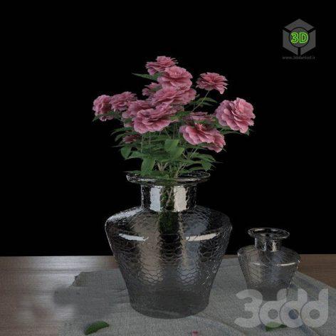 دانلود آبجکت گلدان گل 761