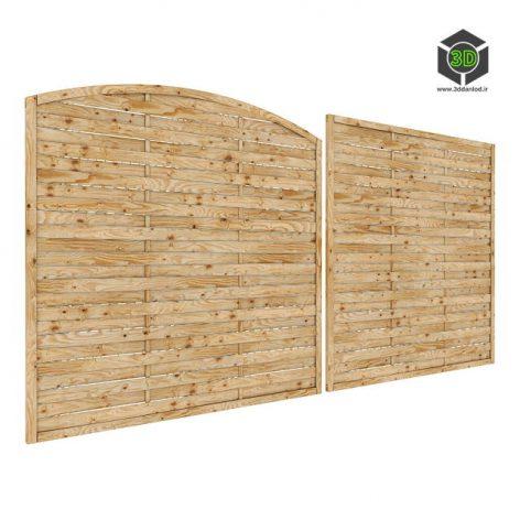 Wooden Fence 095 (3ddanlod.ir)