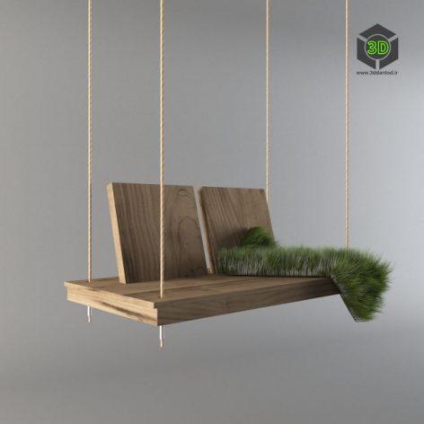 Wooden Interior Swing 216 (3ddanlod.ir)