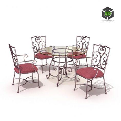 دانلود آبجکت میز صندلی 536