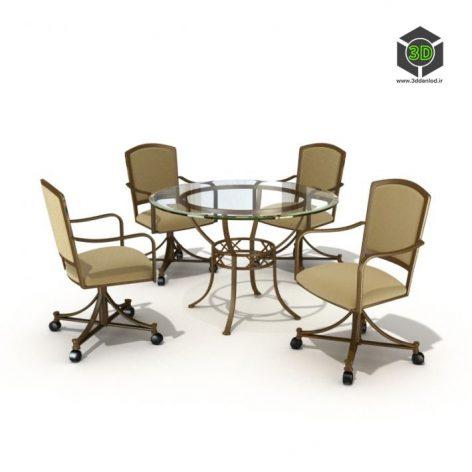 دانلود آبجکت میز صندلی 537