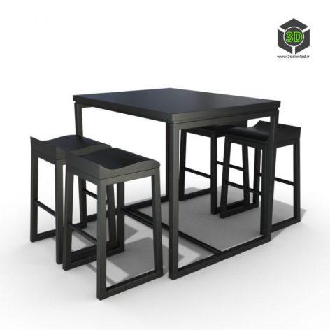 دانلود آبجکت میز صندلی 541