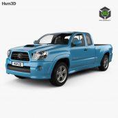 hum3d Toyota Tacoma XRunner 2011 3D model(3ddanlod.ir)