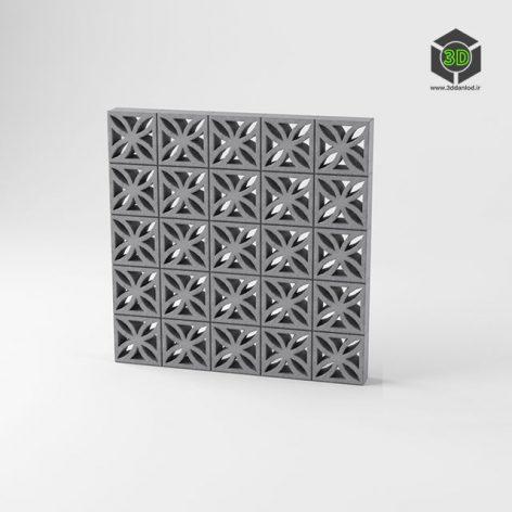 Decorative Concret Block Wall 116 (3ddanlod.ir)
