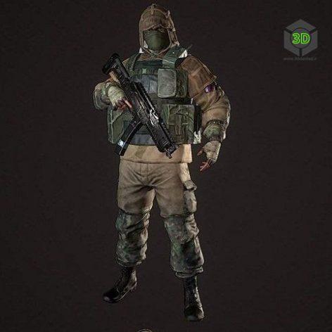 FSB Fighter 3D Model (3ddanlod.ir)