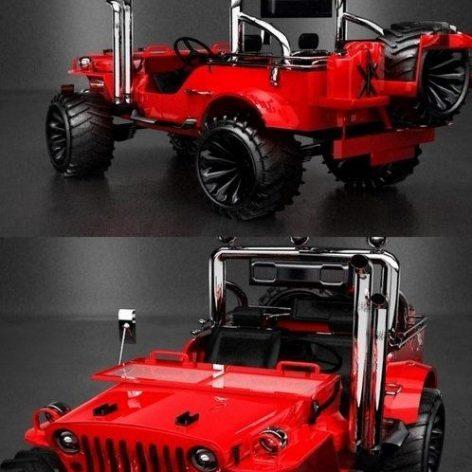 Jeep Rubicon LP 3D Model(3ddanlod.ir)