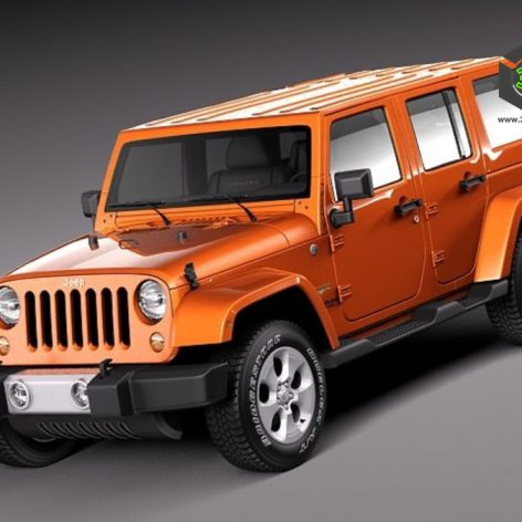 Jeep Wrangler Unlimited Sahara 2013 3D Model(3ddanlod.ir)