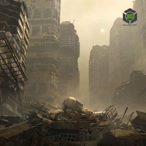 Kitbash3D-WARZONE 001 cover (3ddanlod.ir)