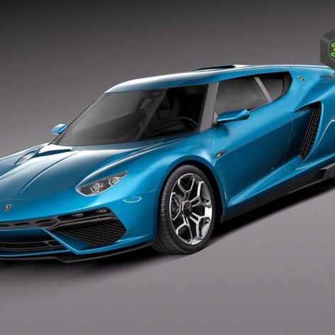 Lamborghini Asterion LPI 910-4 Concept 2014 3D Model(3ddanlod.ir)