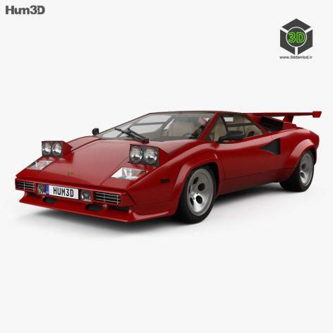 Lamborghini Lamborghini Countach 5000 QV with HQ interior 1985 3D model (2)(3ddanlod.ir)