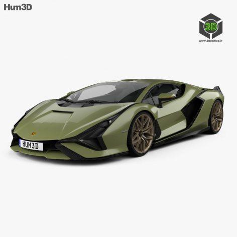 Lamborghini Sian 2020 3D model(3ddanlod.ir)