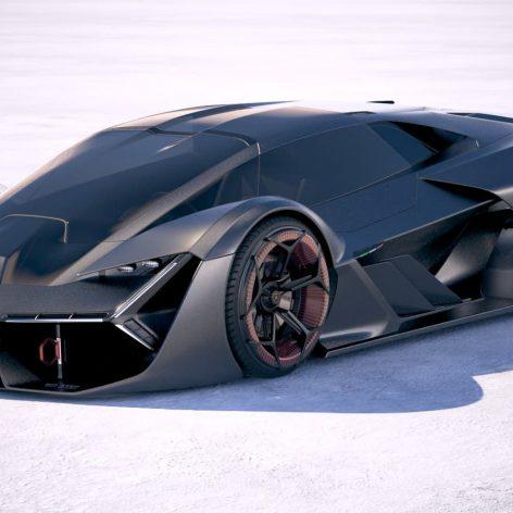 Lamborghini Terzo Millennio 2018 3D Model(3ddanlod.ir)