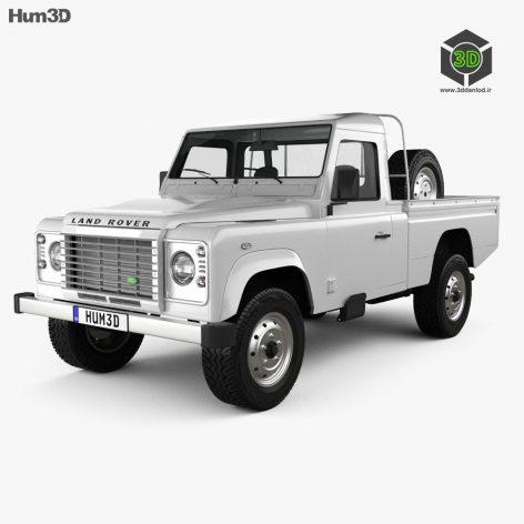 Land Rover Defender 110 High Capacity PickUp 2011 3d model(3ddanlod.ir)