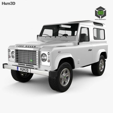 Land Rover Defender 90 Station Wagon 2011 3D Model(3ddanlod.ir)