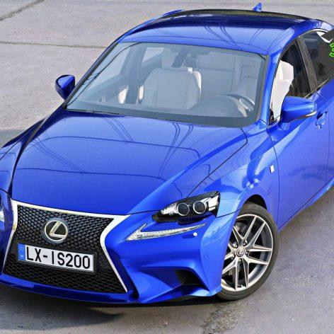 Lexus IS F Sport 2016 3D Model(3ddanlod.ir)