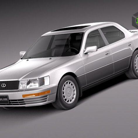 Lexus LS 400 1989-1994 3D Model(3ddanlod.ir)